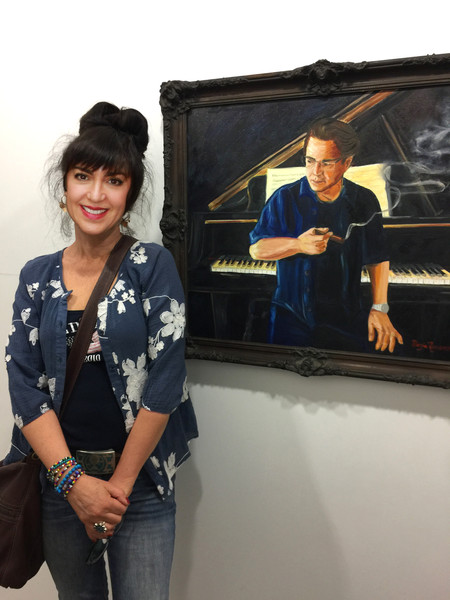 "Margie's painting ""The Muse"" was juried into the San Fernando Valley Arts & Cultur"