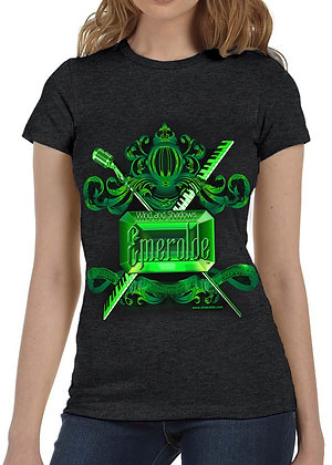 Women's (Emeralde) Black t-shirt