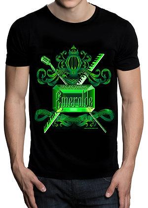 Men's (Emeralde) Black t-shirt