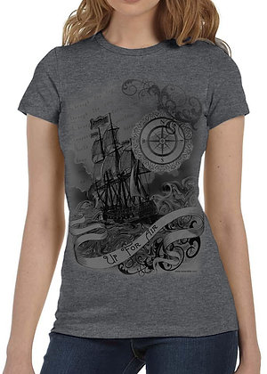 Women's (Up For Air) Gray t-shirt