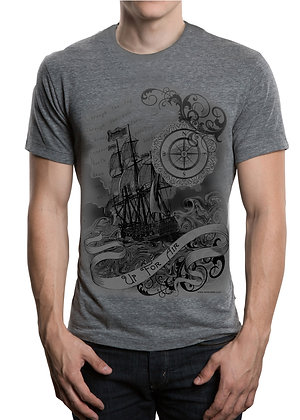 Men's (Up For Air) Gray t-shirt