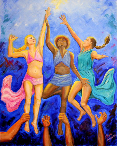 "Margie's painting ""Breaking Free"" has been juried into The SFVCC exhibit ""The Art"