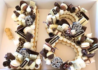 עוגת יום הולדת מספרים 18