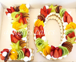 עוגת מספרים 10 פירות