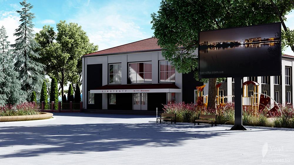 Multi-media big-board will be installed near the cinema - Viz4d concept