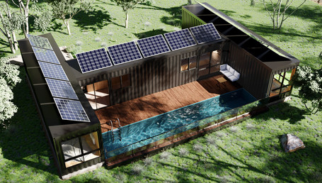 Sea container house in Tamania