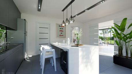 Kitchen interior design and visualization