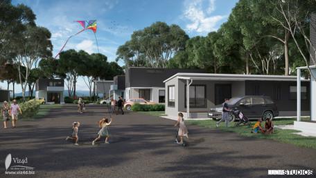 Cottage village visualization in Victoria, Australia