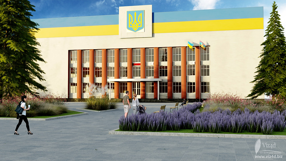 """Пропозиція Viz4d щодо створення """"острівця-фотозони"""" на площі перед районною державною адміністрацією"""""""
