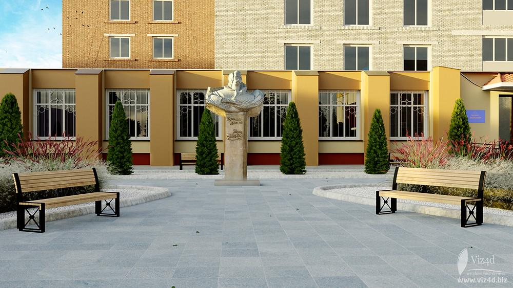 New location for T.G. Shevchenko monument - Viz4d