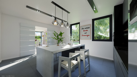 Kitchen interior design and visualization