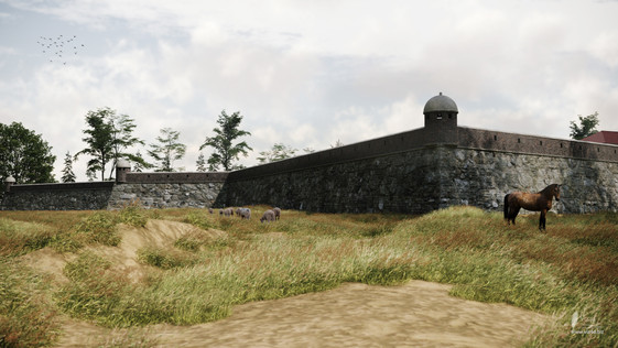 Eastern bastion and redan