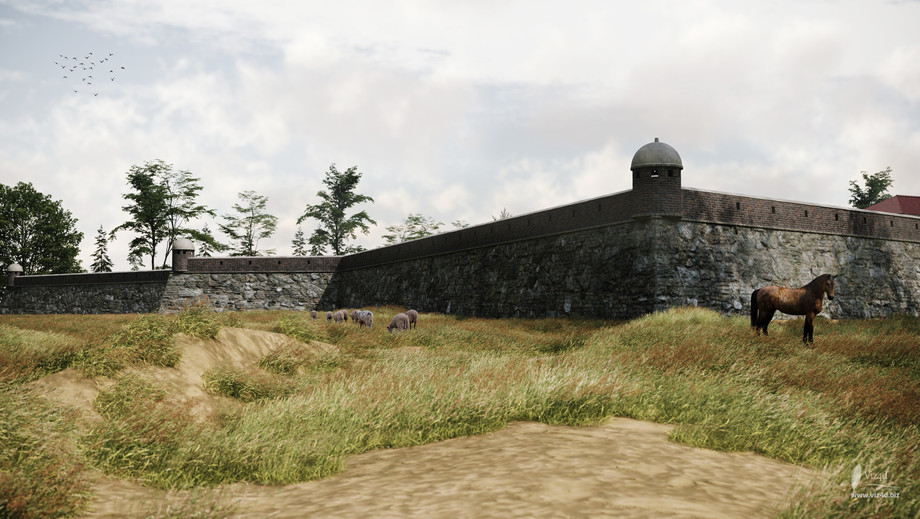 Eastern bastion and redan