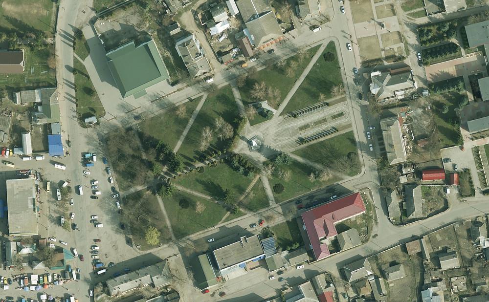 Memorial Square in the town of Bar in Vinnytsya region, Ukraine