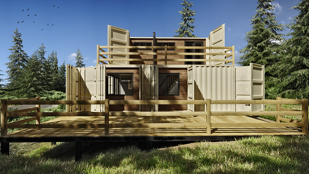 container house terrace by viz4d.biz
