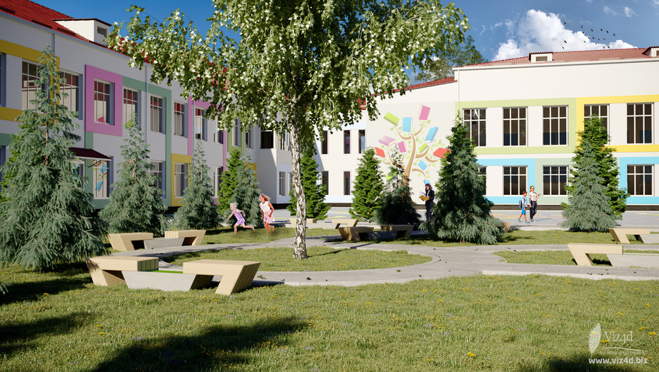 Green zone on the school's territory