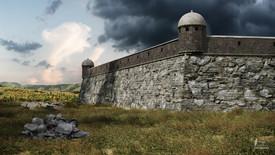 South-Western bastion