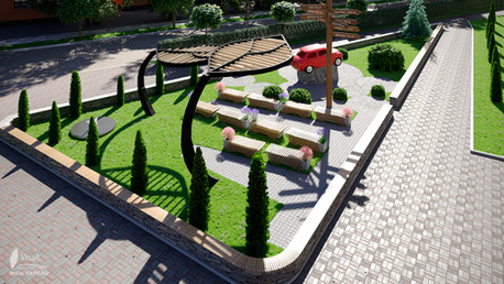 Landscape design for the college of the transport and construction