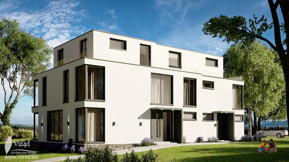 white plaster design by viz4d.biz