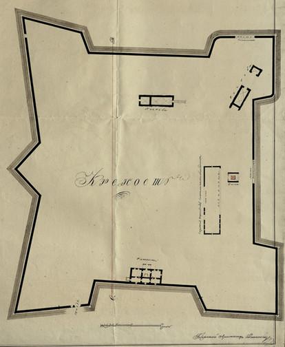 План Барського замку 1808 року