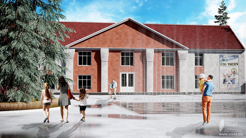 Концепція пішохідного фонтану у місті Бар - пропозиція Viz4d