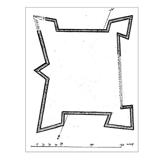 План замку за Сіцінським Й.Е.
