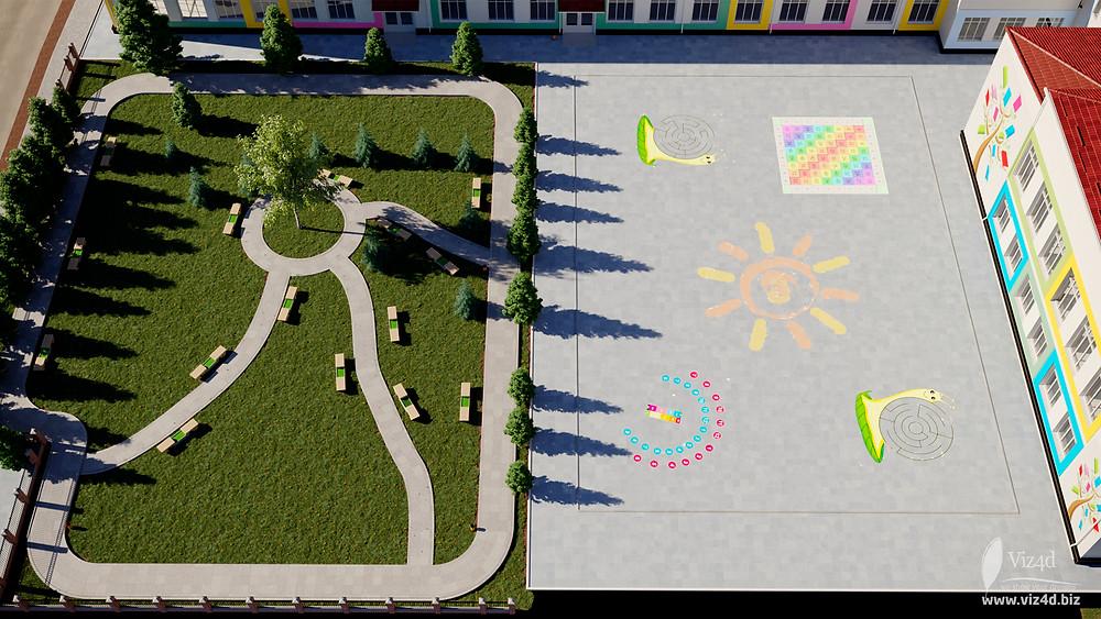 Влаштування території зеленої та шкільної площі - пропозиція viz4dbiz