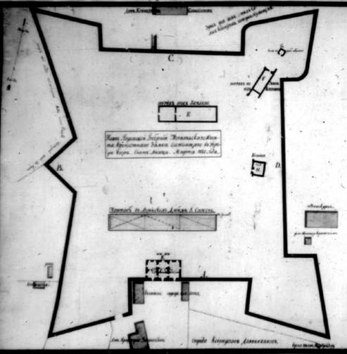 План Барського замку 1820 року
