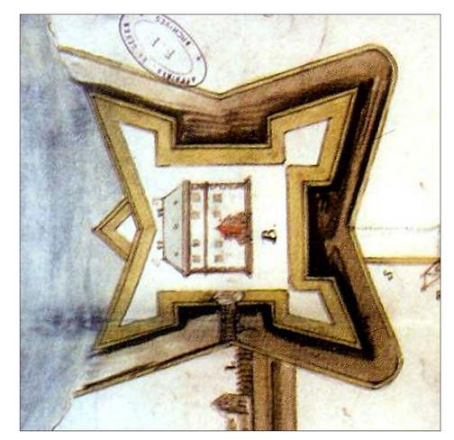План Барського замку 1638 року