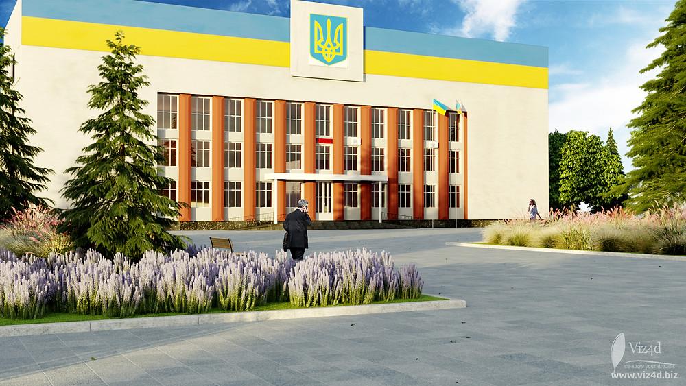 Пропозиція Viz4d щодо реконструкції площі перед Барською районною державною адміністрацією