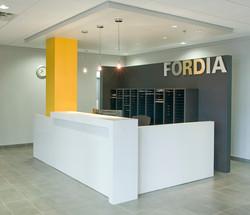 FORDIA: comptoir de réception