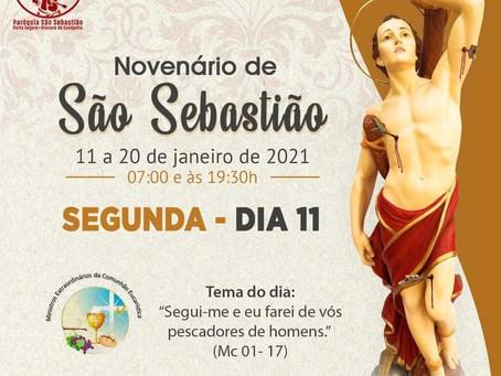 11/01/2021 - 1º dia do Novenário de São Sebastião