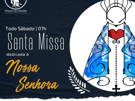 16/10 - Santa Missa dedicada a Nossa Senhora