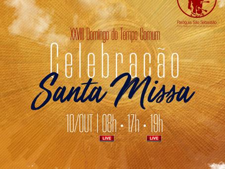 10/10/21 - Santa Missa do XXVIII Domingo do Tempo Comum