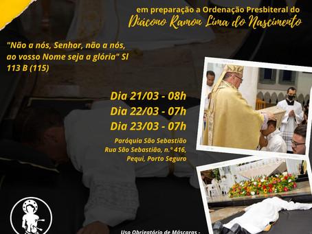 Tríduo Vocacional Diácono Ramon Lima do Nascimento