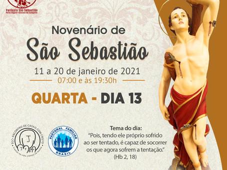 13/01/2021 - 3º dia do Novenário de São Sebastão