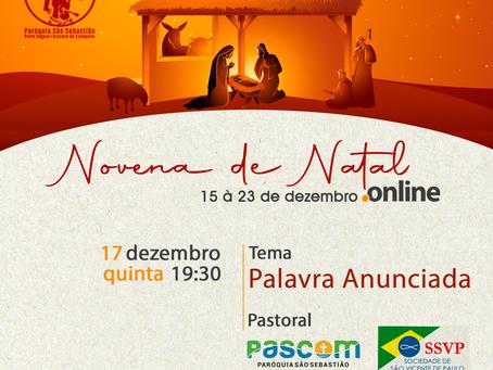3º Encontro da Novena de Natal Online - tema: Palavra Anunciada