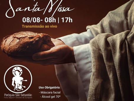08/08 Missa do XIX domingo do tempo comum