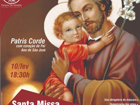 Missa  da Entronização da imagem de São José para o ano dedicado a sua memória