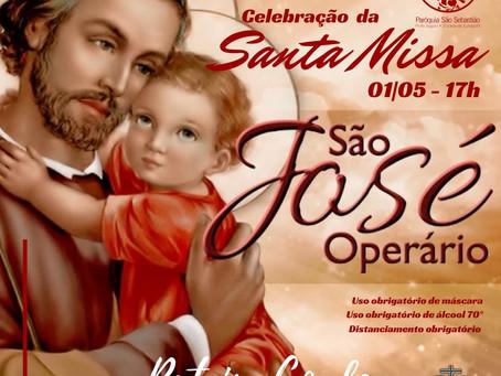 01/05 - Santa Missa Solene - São José Operário