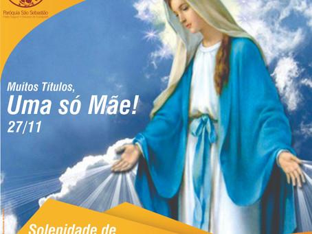 Salve Nossa Senhora das Graças!!