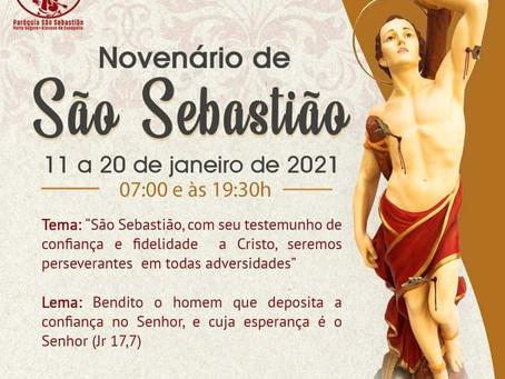Novenário de São Sebastião - de 11 a 20 de janeiro de 2021
