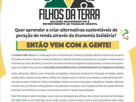 Parceria promove cursos para geração  de renda sustentável - últimas vagas