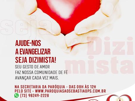 Ajude-nos a evangelizar: seja Dizimista!!