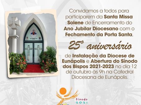 Convite: 25º aniversário de Posse de Dom José Edson e implantação da Diocese de Eunápolis