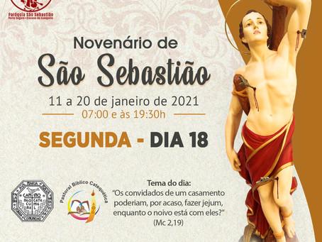 18/02 - 8° dia da Novena de São Sebastião