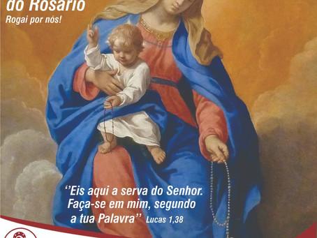 07/10 -  Nossa Senhora do Rosário, muitos títulos - uma só mãe