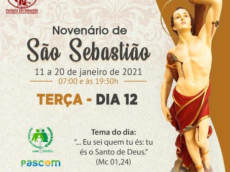 12/01/2021 - 2º dia do Novenário de São Sebastião