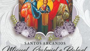 29 de setembro dia dos Santos Arcanjos: São Miguel, São Gabriel e São Rafael