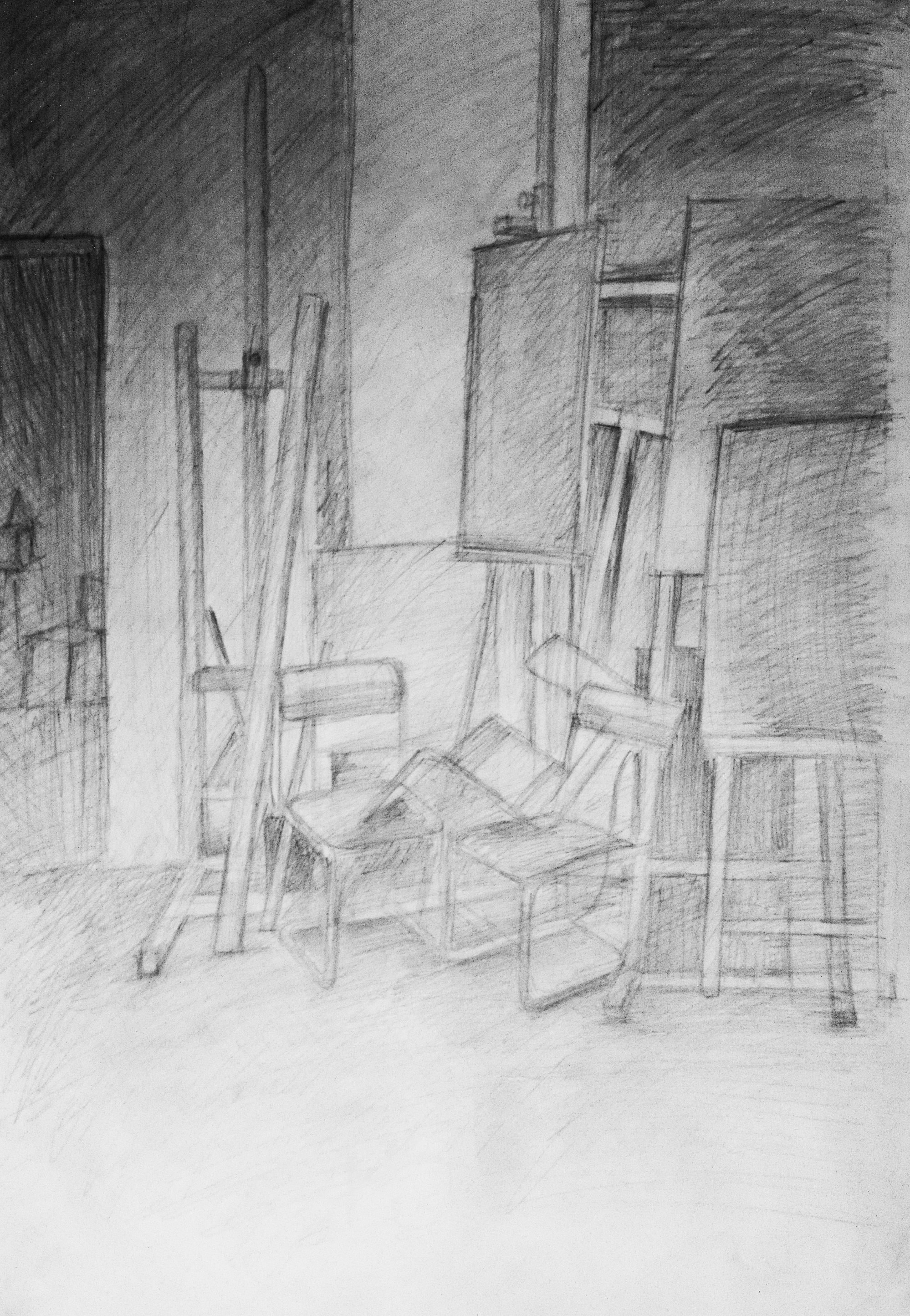 Sketchy composition: chairs